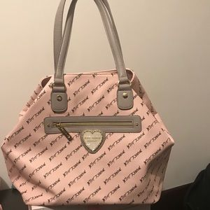 Betsey Johnson tote with pouch